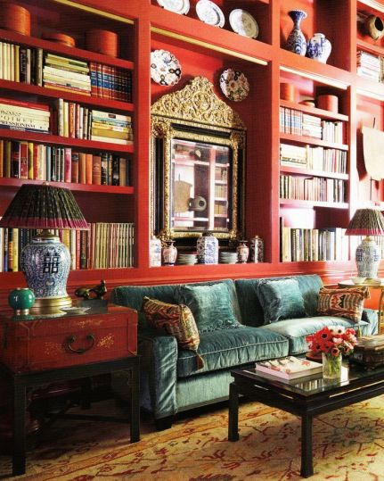 Library by Beverly Field via Veranda