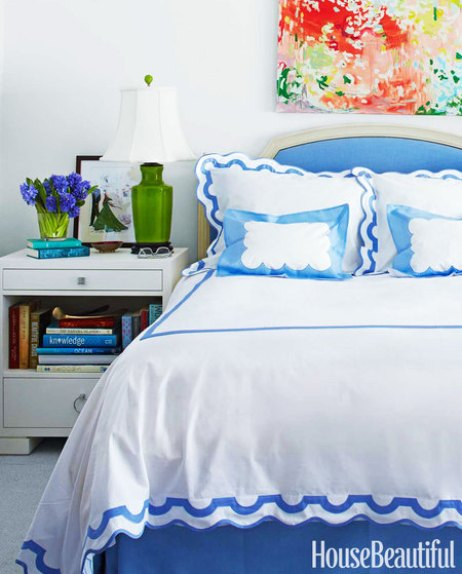 Manhattan Bedroom by Lilly Bunn in House Beautiful