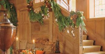 Mary McDonald Stairway for Christmas via Veranda