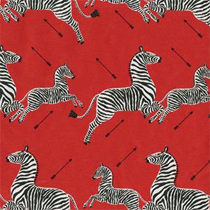 Red Foil Zebra by Caspari
