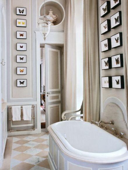 Butterflies in a bathroom by Jean Louis Deniot via AD