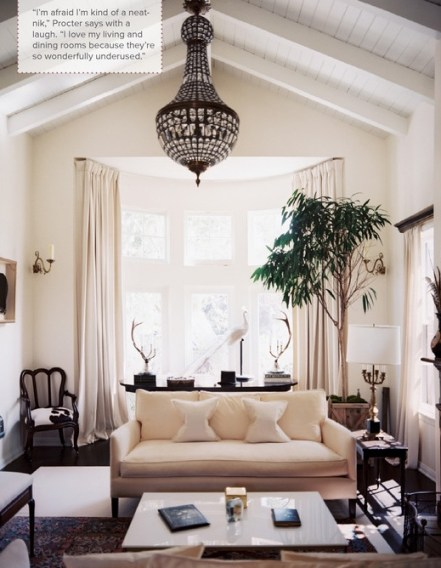 Emily Proctors living room via Lonny