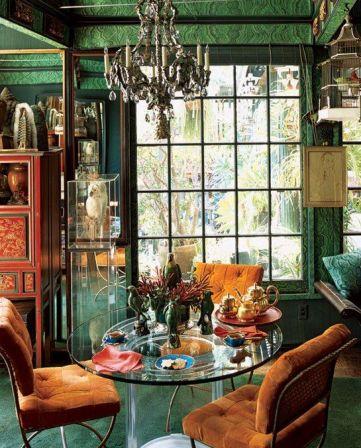 Gorgeous Malachite room via AD