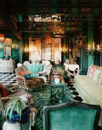 Tony Duquette and Hutton Wilkinson room via Lonny