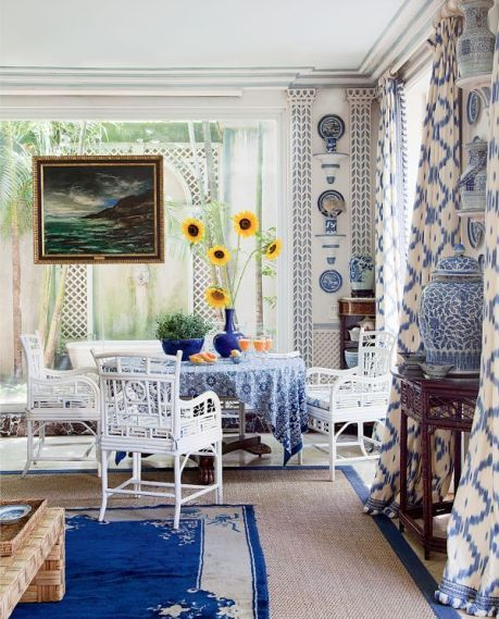 Blue and white lattice delight via AD