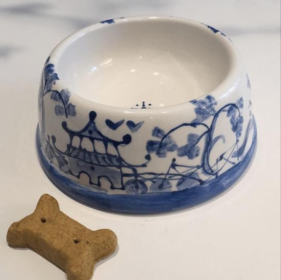Dana Mahnke Hand Painted Dog Bowls