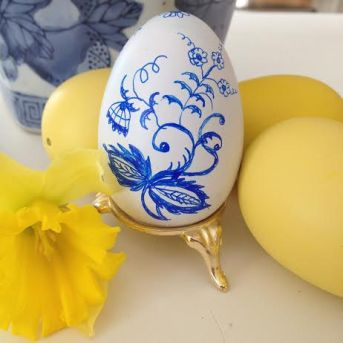 Hand Painted Eggs by Dana Mahnke on Etsy Indigo Home