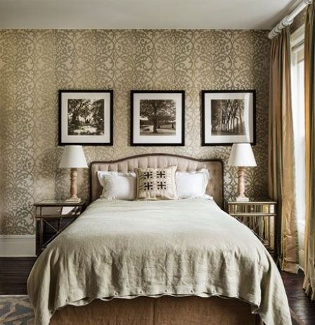 Stunning neutral bedroom designed by Sheila Bridges