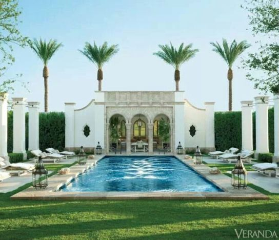 A chic pool area by Veranda