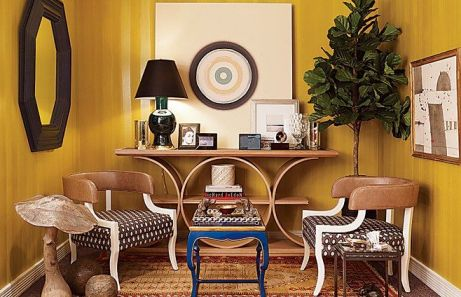 Thom Filicia Yellow room in AD