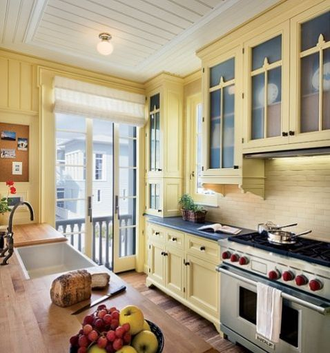 Yellow Kitchen via AD