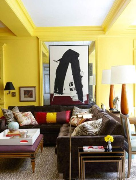 Yellow room via House Beautiful