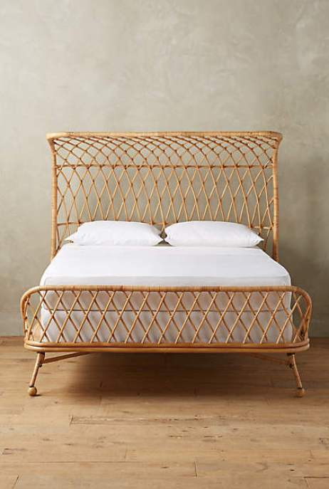 Rattan bed via Anthropologie