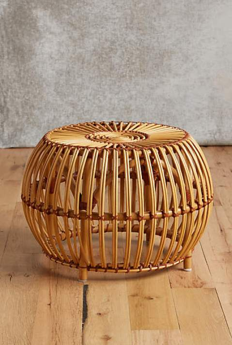Rattan ottoman via Anthropologie