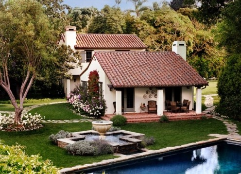 Tile roof home