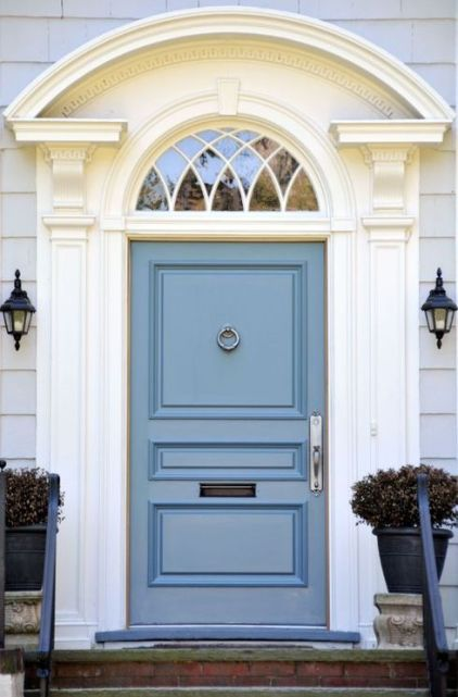 Stunning blue door via Good House Keeping
