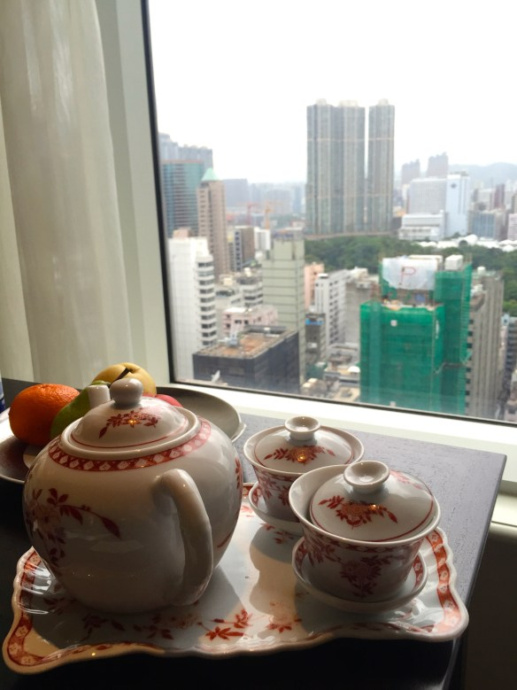 Tea in a room at the Peninsula Hotel Hong Kong