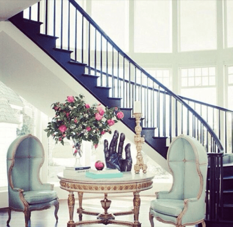 A high style navy staircase