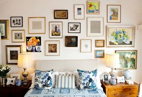 Anna Spiro gallery wall via Savvy Home Blog