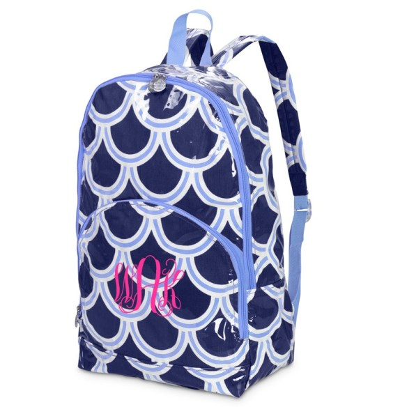 Monogrammed backpack via Swoozies