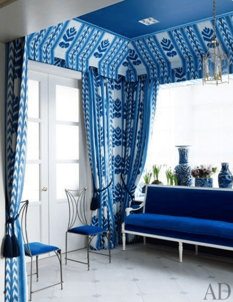 blue and white room by Michael S Smith via AD