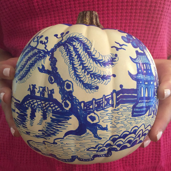 Dana Manhke Indigo Home Chinoiserie Pumpkin