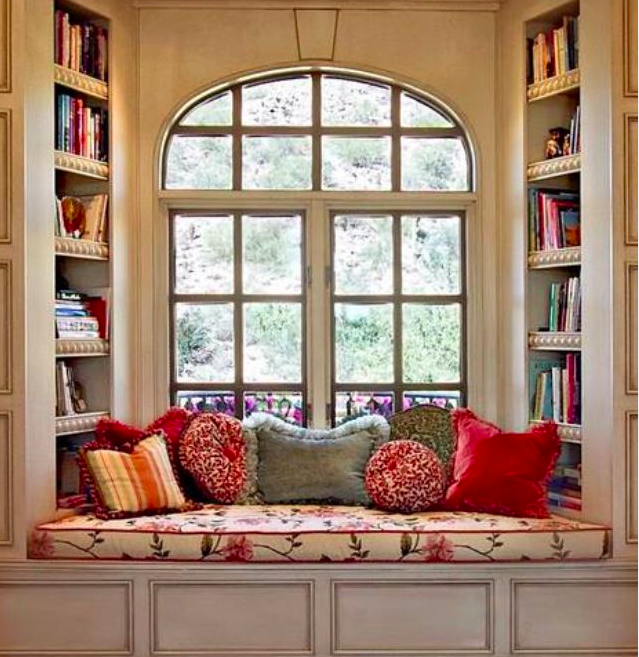 Outdoor window seat via Veranda
