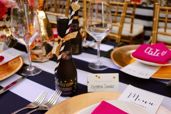 Kate Spade Luncheon with champange favors