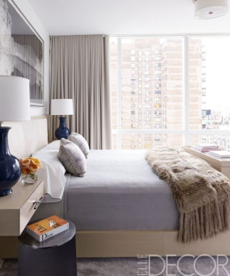 Russell Groves designed Manhattan bedroom via Elle Decor