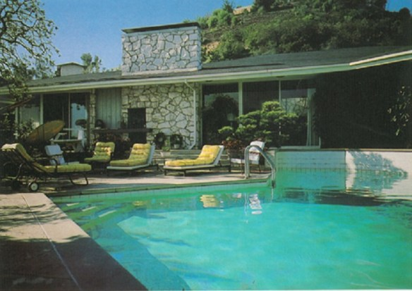 Pool at the Reagans home