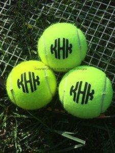 Kristin Henchel Monogram Tennis Balls