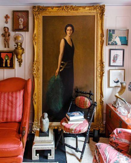 Gloria Vanderbuilt living room via The NYT