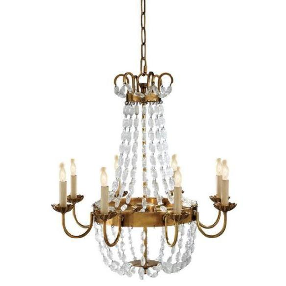 Visual Comfort Brass Chandelier from Chairish