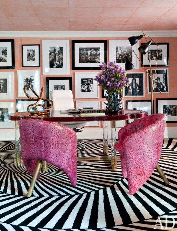 Kelly Wearstler office in Pink via AD
