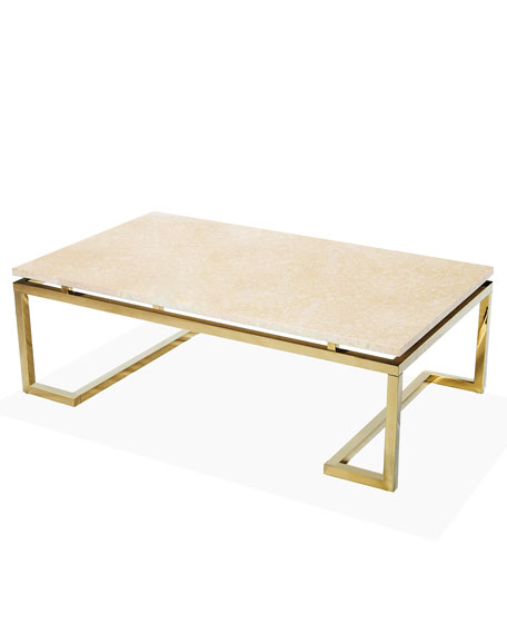 Harper Marble Coffee Table Horchow