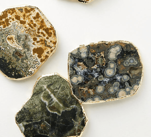 Agate Coasters Anthropologie