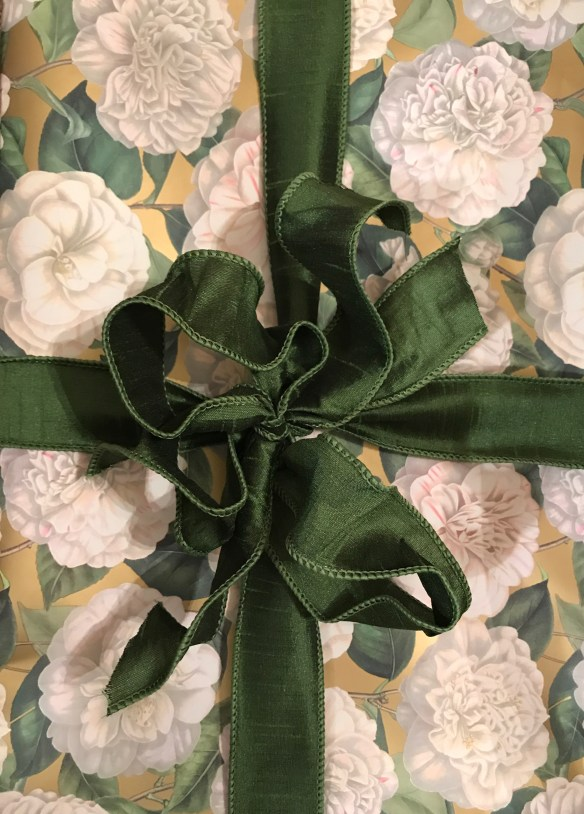 Caspari gift wrap for The Potted Boxwood 15