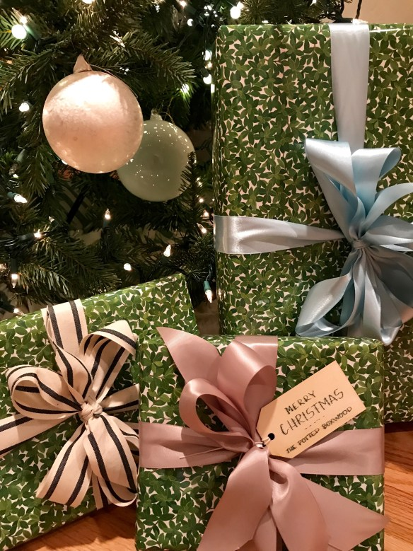 Caspari gift wrap for The Potted Boxwood 17