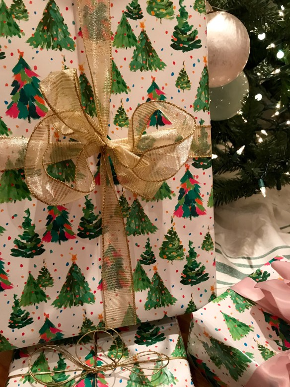 Caspari gift wrap for The Potted Boxwood 20