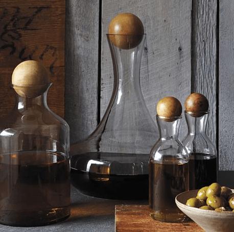glass and wood via west elm