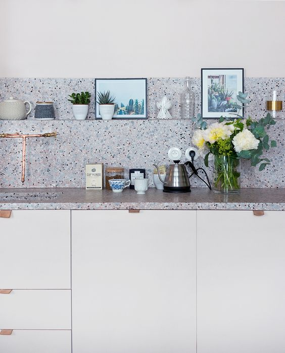 Terrazzo Kitchen Backsplash via Pinterest