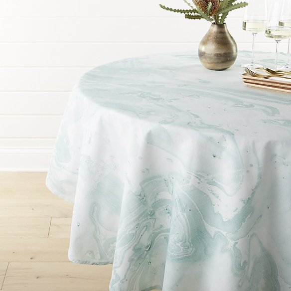Marble blue tablecloth