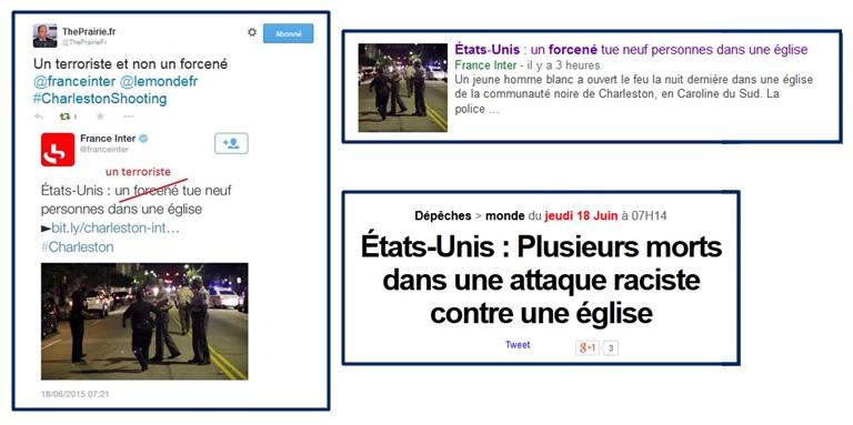 France Inter et Le Monde interpellés sur twitter.