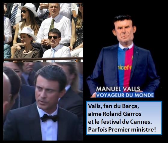 Valls, le Barca, Roland Garros et Cannes.