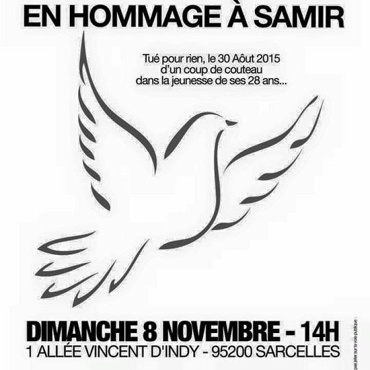 Marche blanche, hommage Samir !