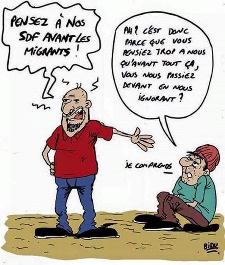 Pensez à nos SDF avant les migrants - ThePrairie.fr !