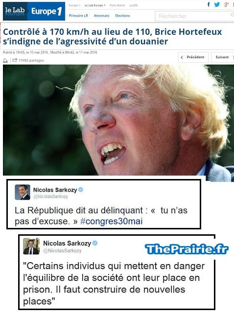 Hortefeux 170 km/h - Sarkozy réagit - ThePrairie.fr !