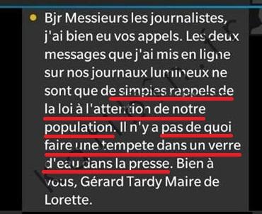 Réponse du maire Gérard Tardy à Katibin - ThePrairie.fr !