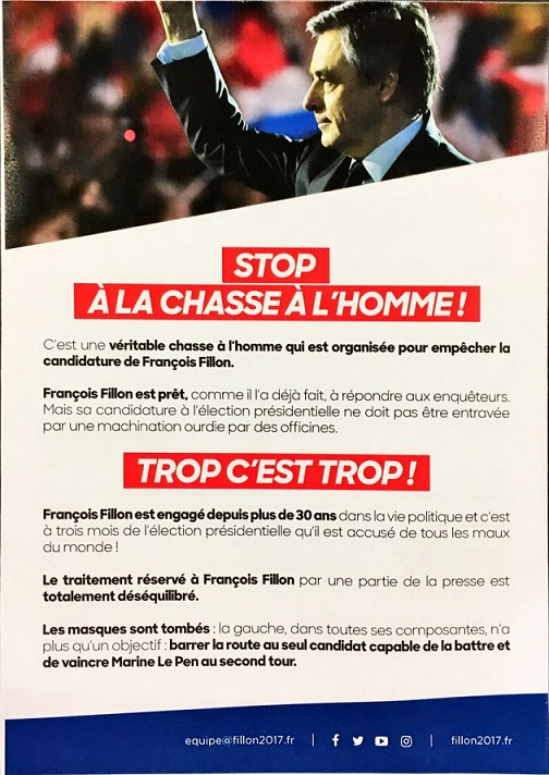 Fillon, le tract en 4 millions d'exemplaires - ThePrairie.fr !