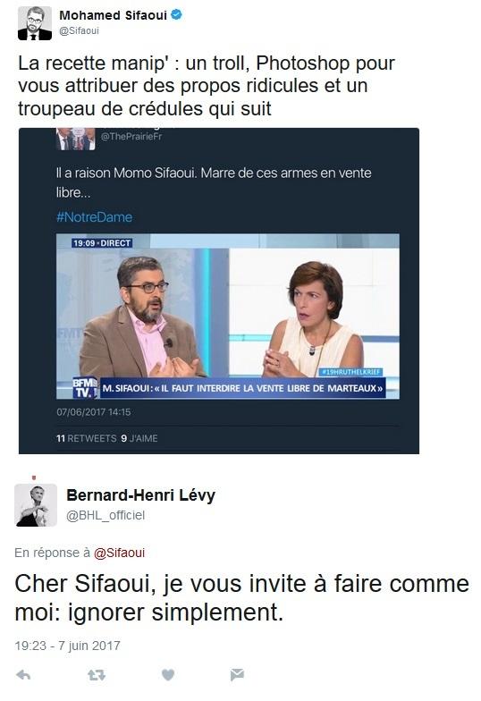 Sifaoui - BHL à la rescousse - ThePrairie.fr !